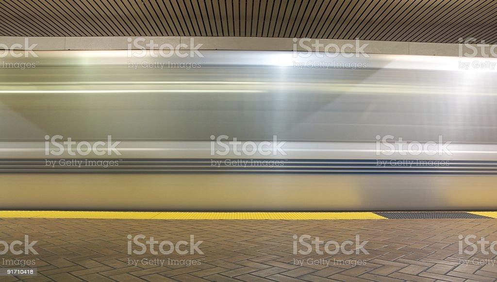 Moving train. stock photo