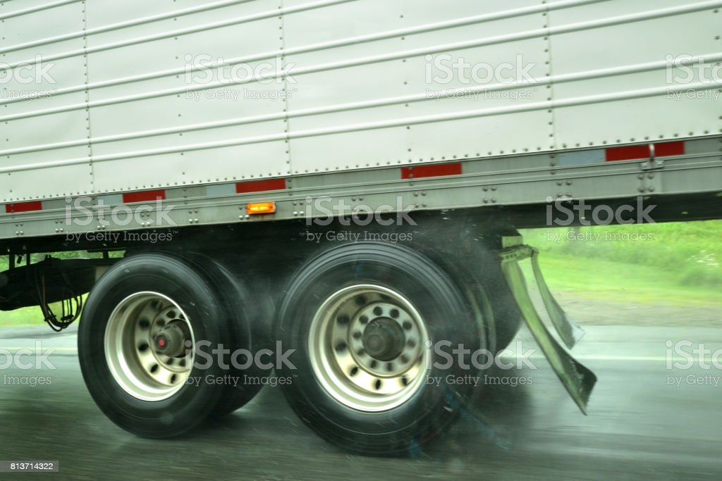 Moving Truck on the Highway stock photo