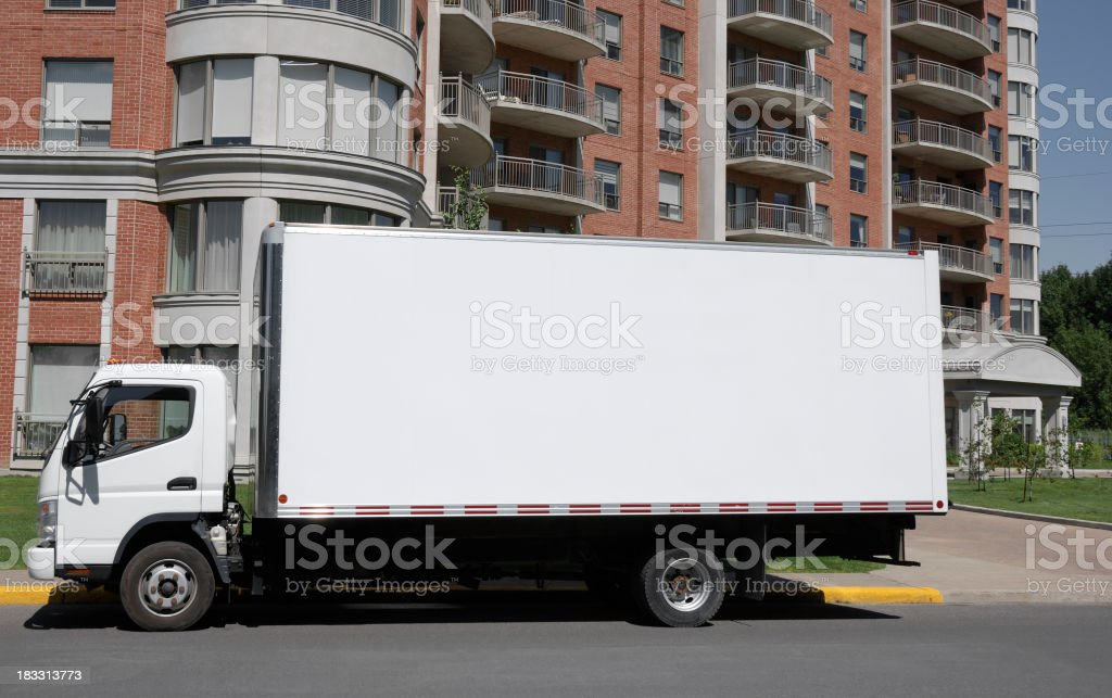 Moving truck. royalty-free stock photo