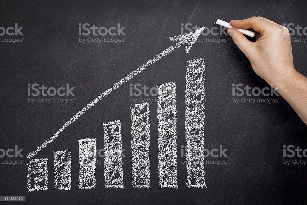 Moving up-Tabelle - Lizenzfrei Analysieren Stock-Foto