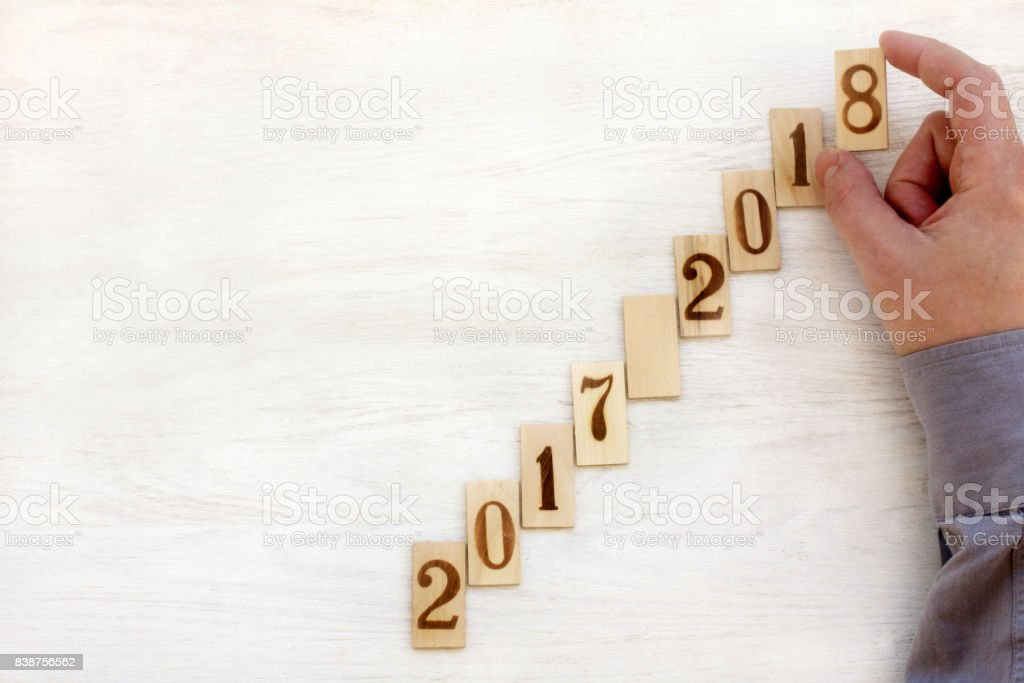 moving up every year stock photo
