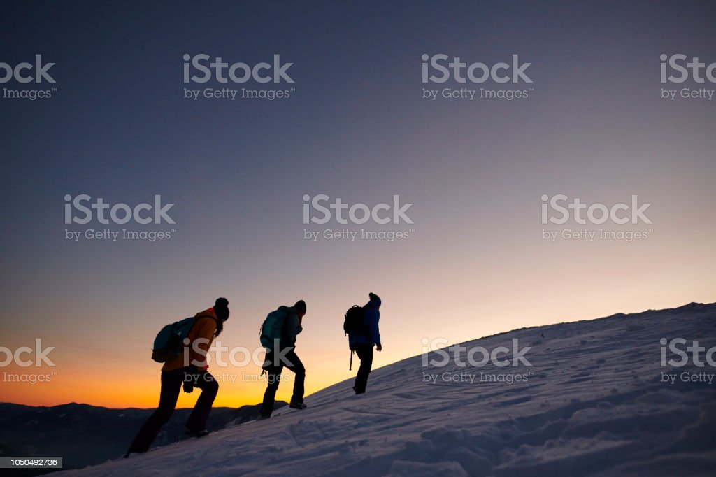 moving up on the hill stock photo