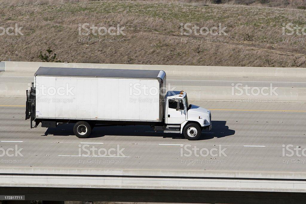 moving van royalty-free stock photo