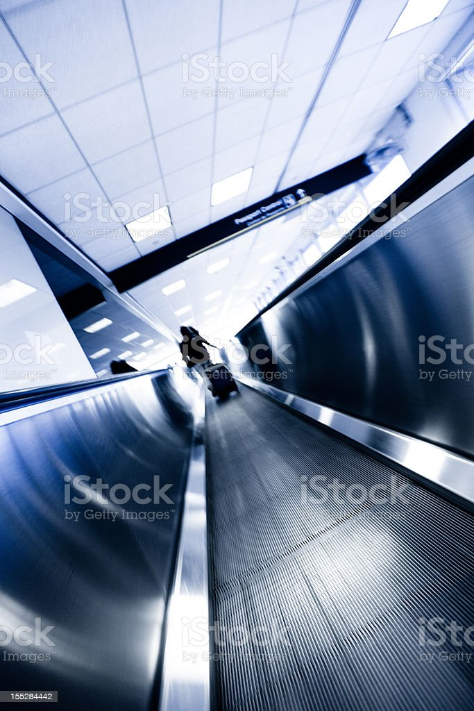 Moving walkway in Miami Internationl Airport royalty-free stock photo