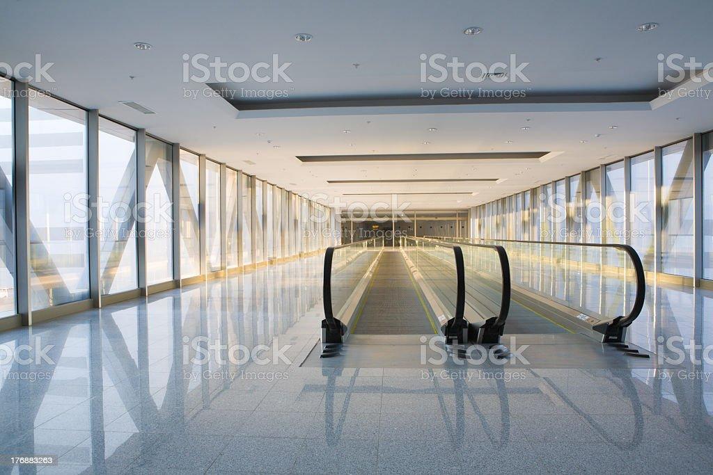 Moving walkway stock photo