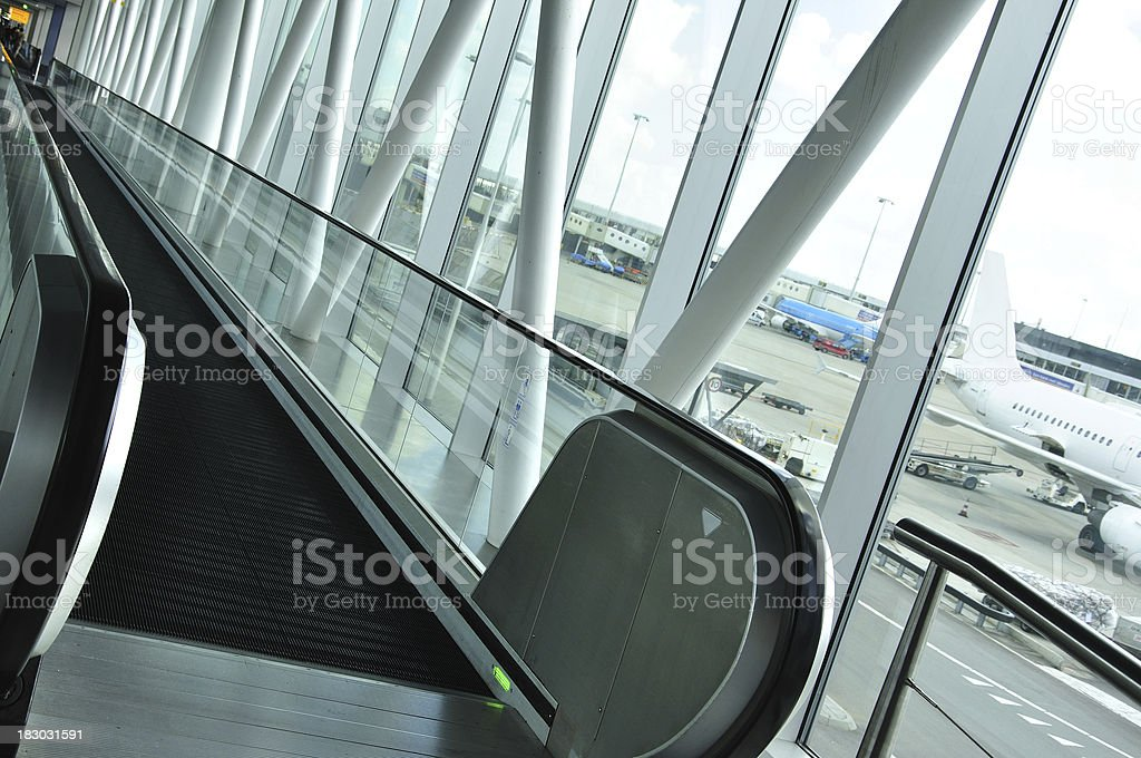 Moving walkway royalty-free stock photo
