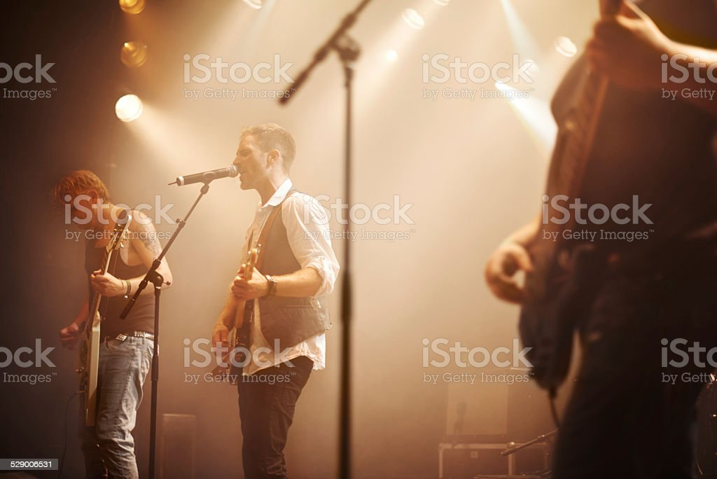 Moving you with their musical sound stock photo