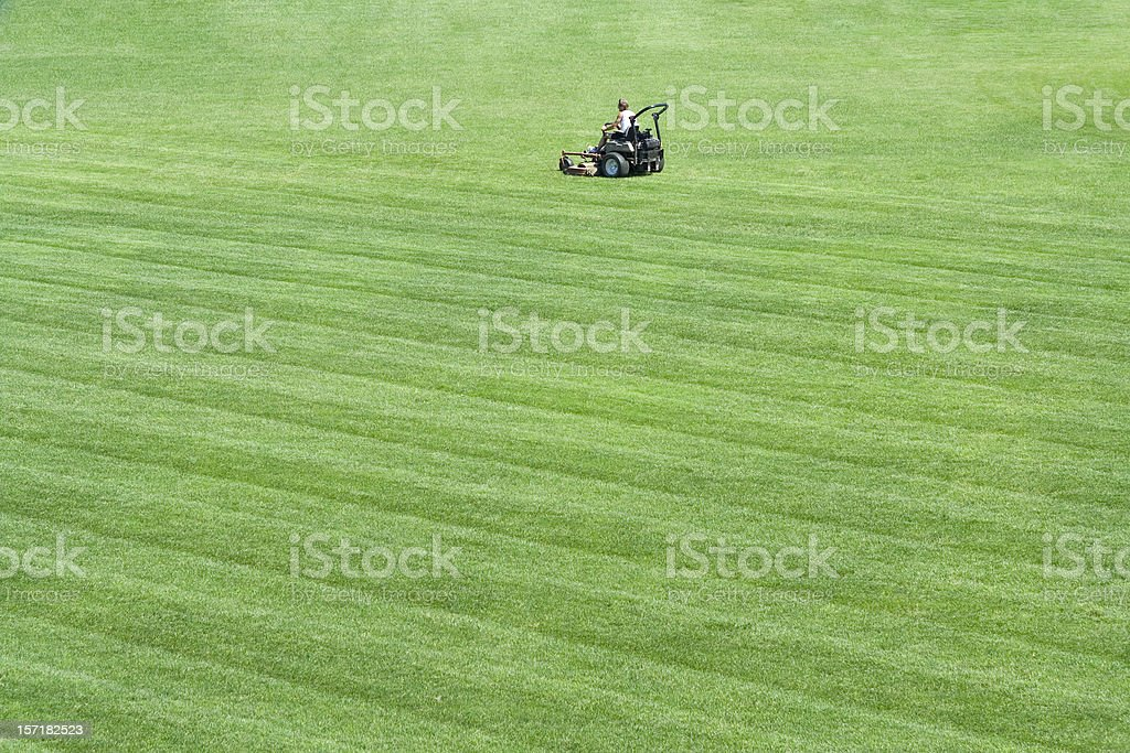 Mow man stock photo