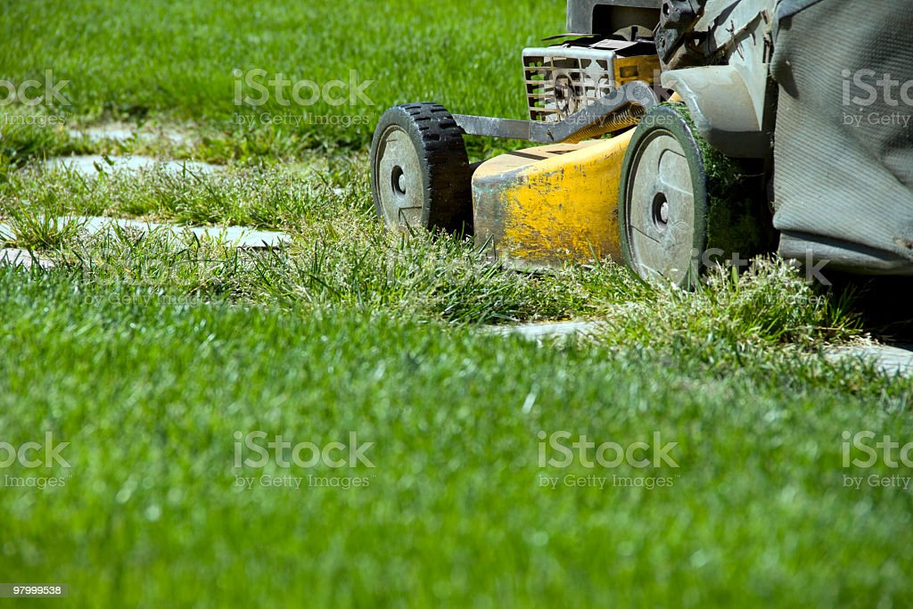 mowing grass royalty free stockfoto