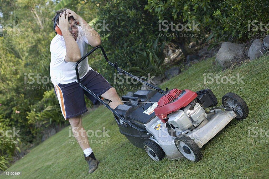 Mowing sucks stock photo
