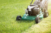 istock Mowing the grass 520135246