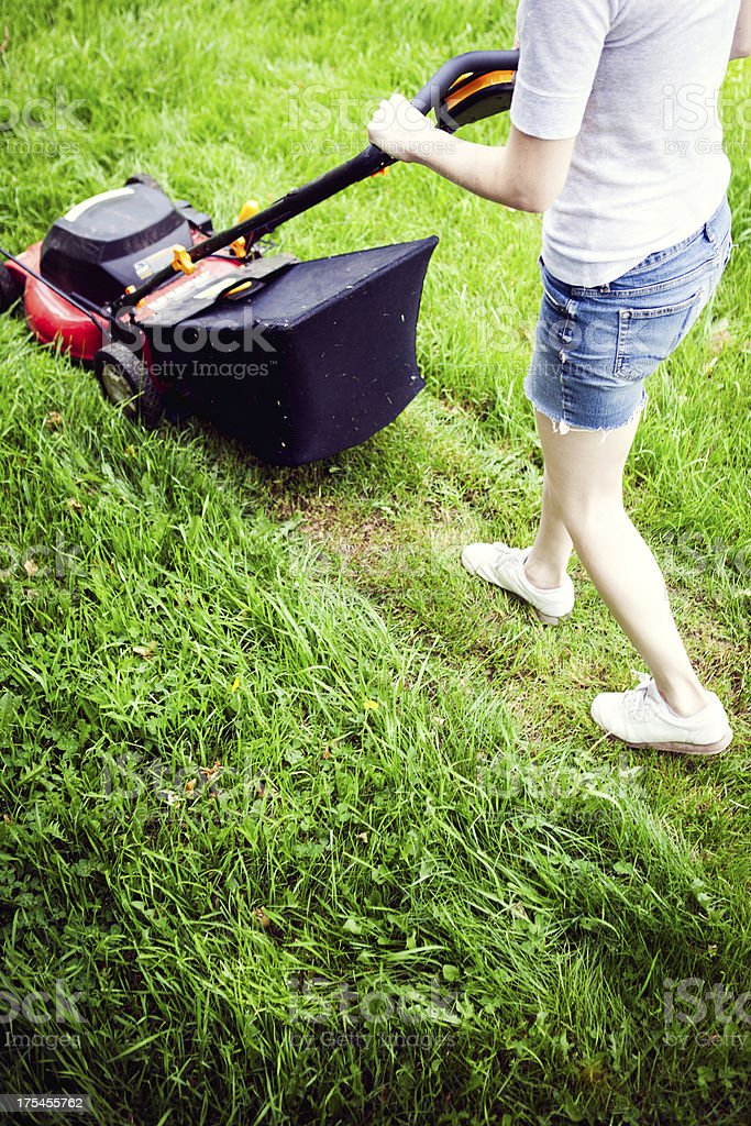 Mowing the Yard stock photo