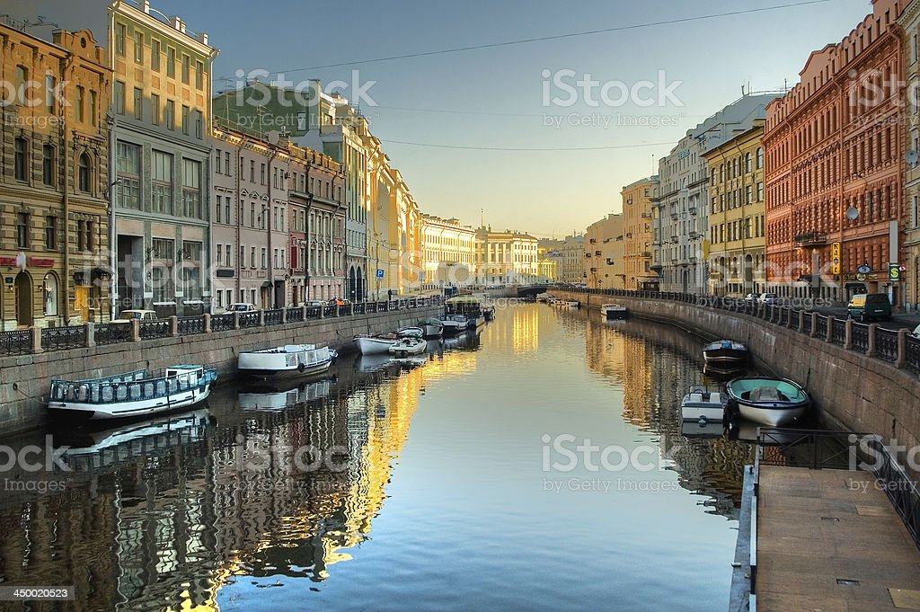 Moyka river in St.Petersburg stock photo