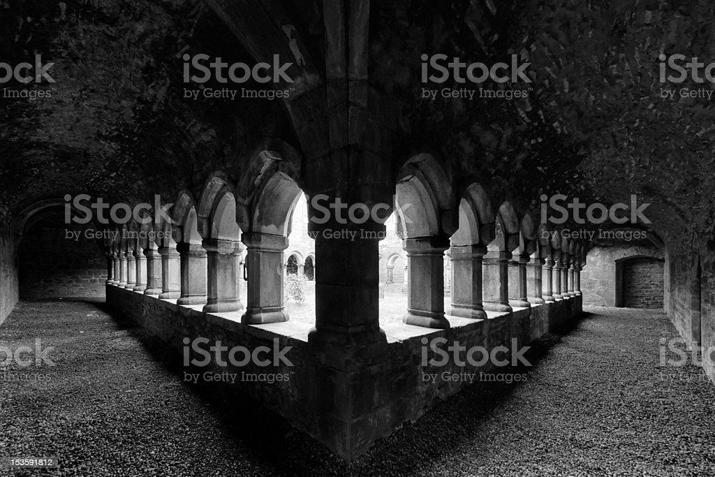 Moyne Abbey stock photo