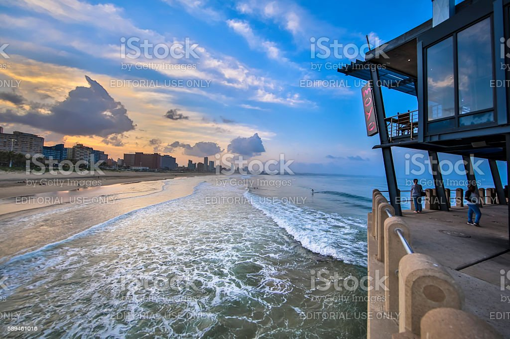 Moyo Pier stock photo