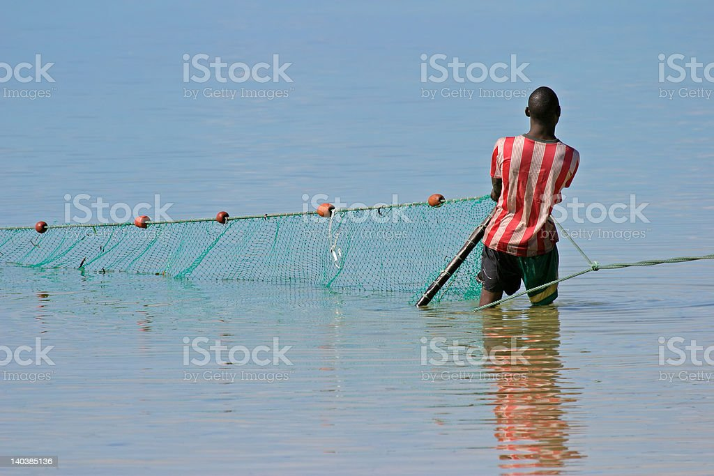 Mozambican fisherman stock photo