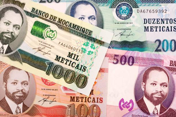Mosambikanische Geld ein Hintergrund – Foto