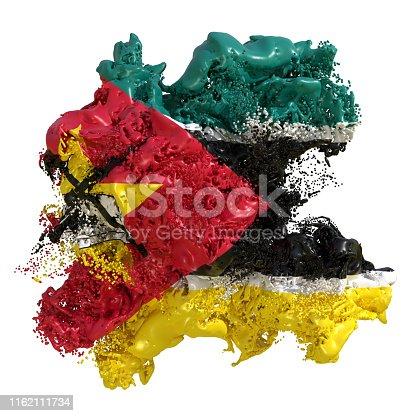 istock Mozambique flag liquid 1162111734