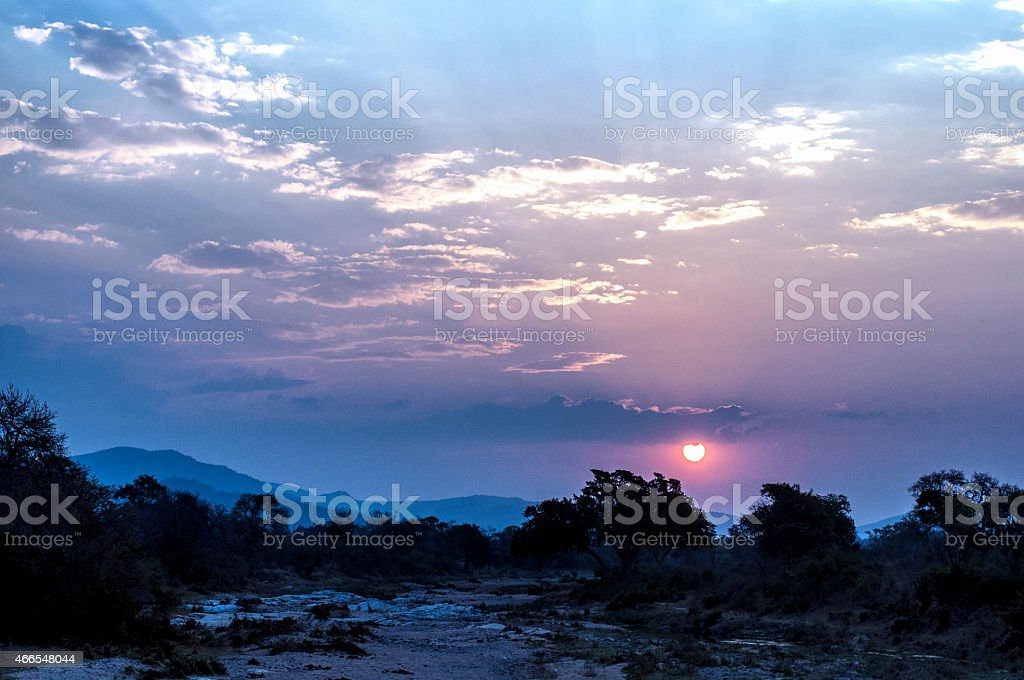 mozambique nightfall stock photo
