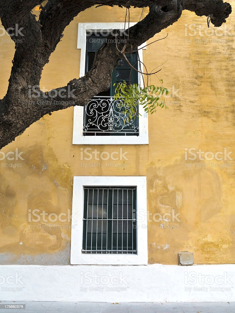 Mozambique, restored building from the Portuguese period. royalty-free stock photo