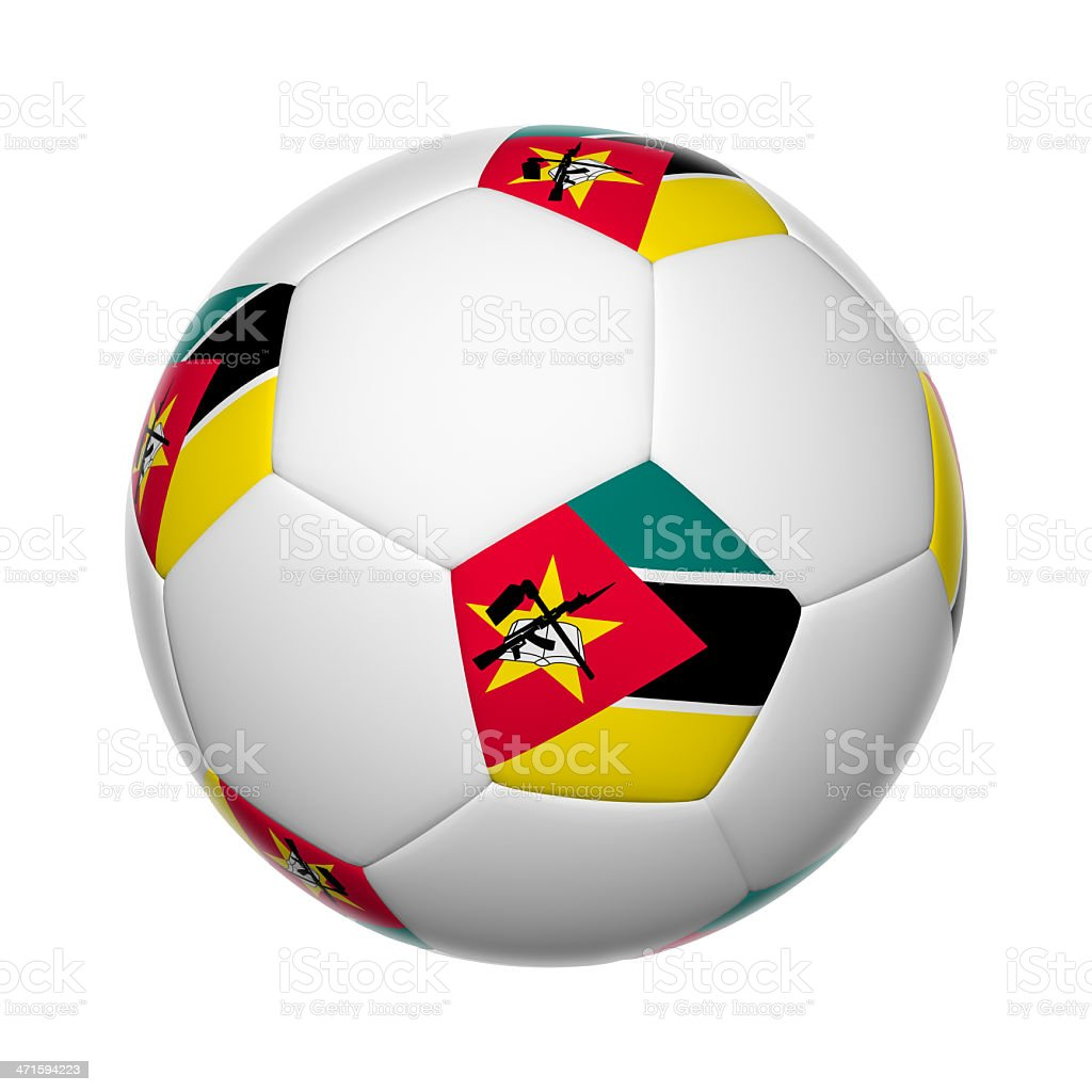 Mozambique soccer ball stock photo
