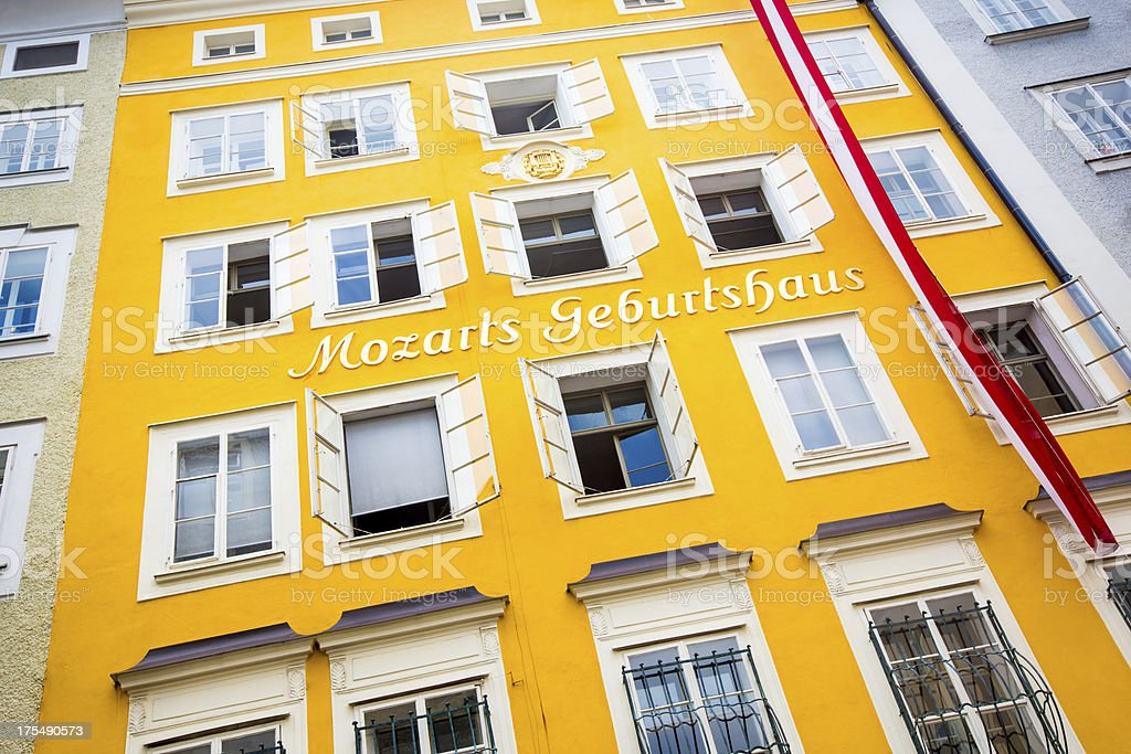Mozart Birthplace Geburtshaus Salzburg Austria stock photo