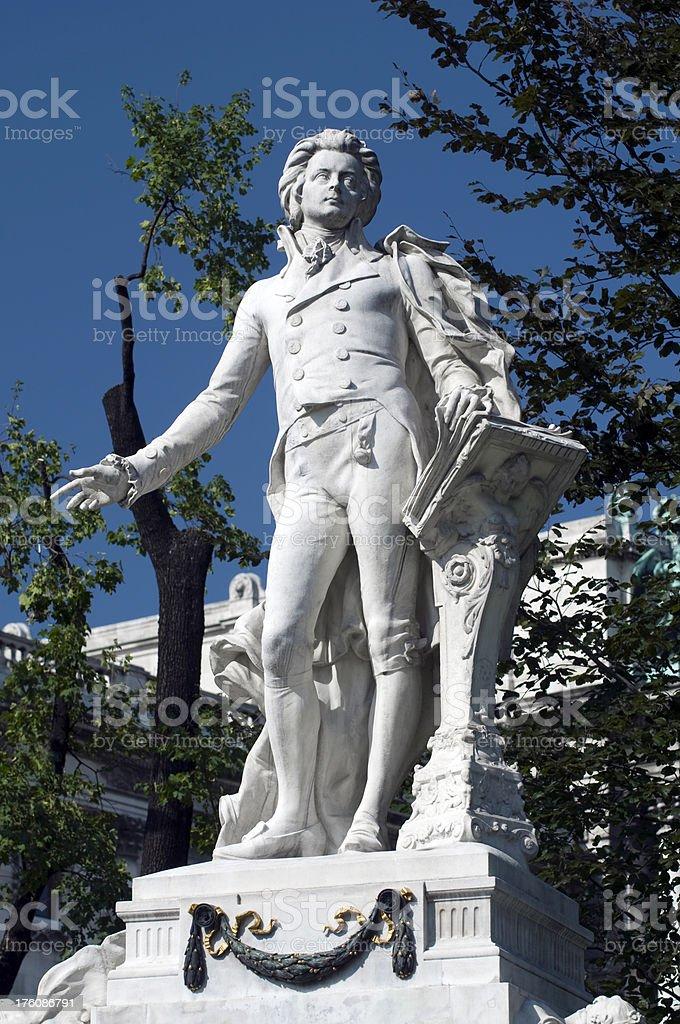 Mozart Memorial in Burggarten, Vienna stock photo