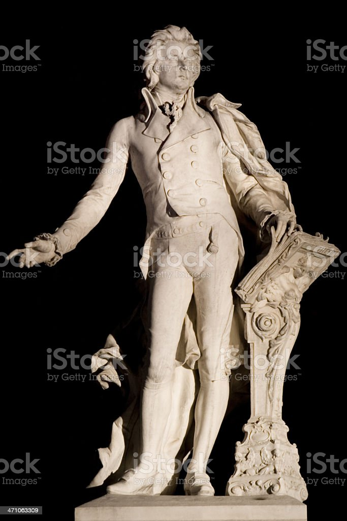 Mozart Memorial stock photo