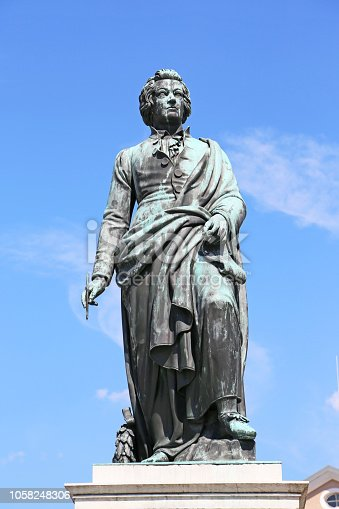 bronze statue of Wolfgang Amadeus Mozart in Salzburg