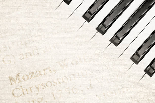 mozart piano stock photo