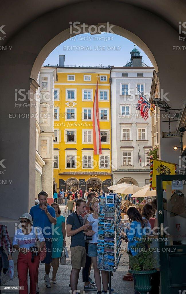 Mozart's Birthplace stock photo