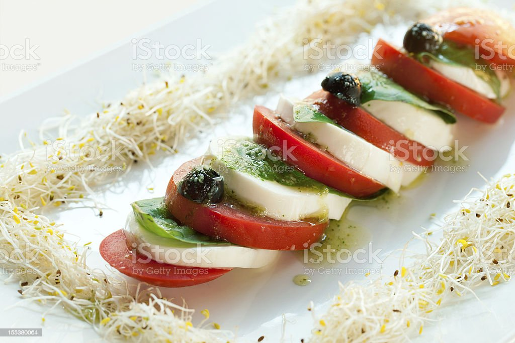 Mozzarella and tomato salad. royalty-free stock photo