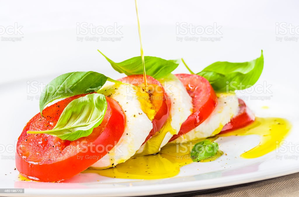 Mozzarella and tomatoes, caprese salad stock photo