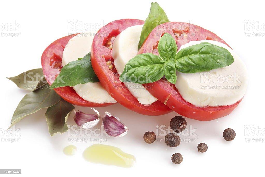 Mozzarella and tomatoes. royalty-free stock photo