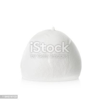 Mozzarella cheese isolated on white background