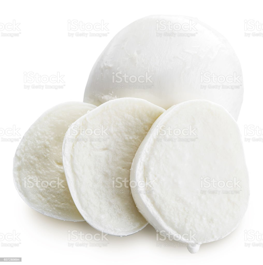 Mozzarella. Clipping paths stock photo