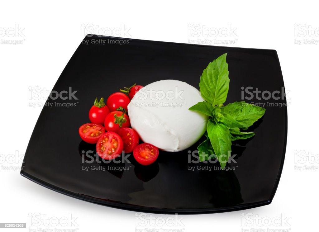 Mozzarella di Bufala, fresh cheese, italian dairy product. stock photo