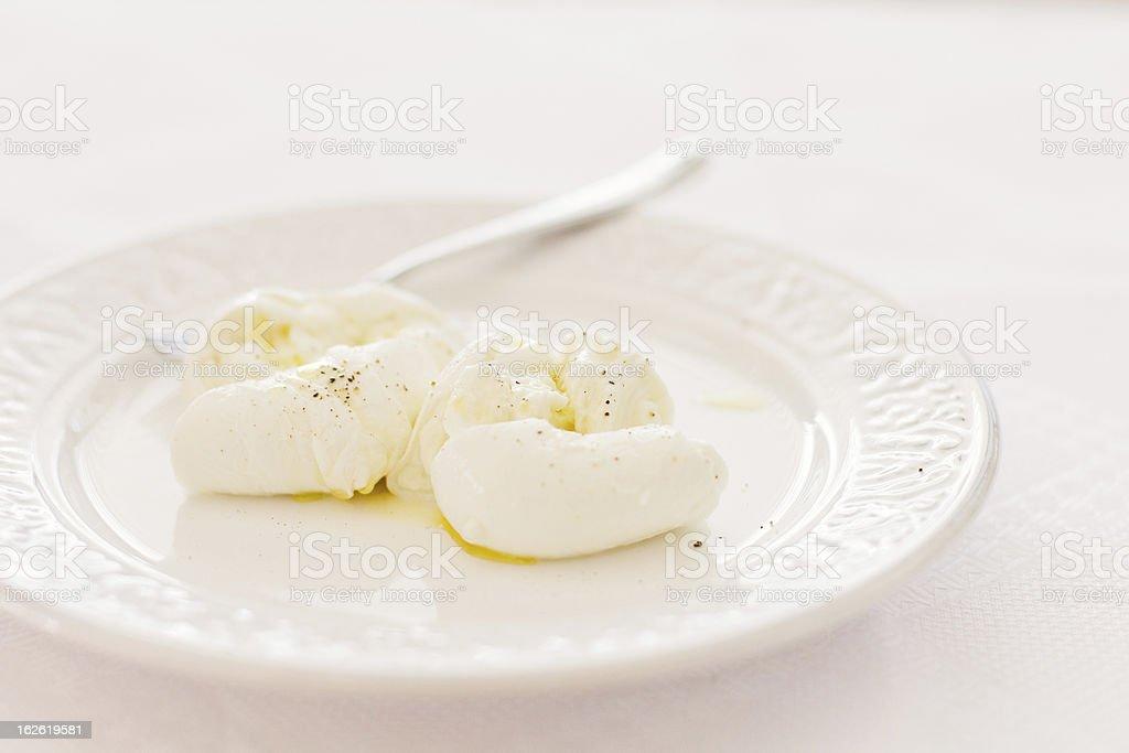 Mozzarella di bufala stock photo