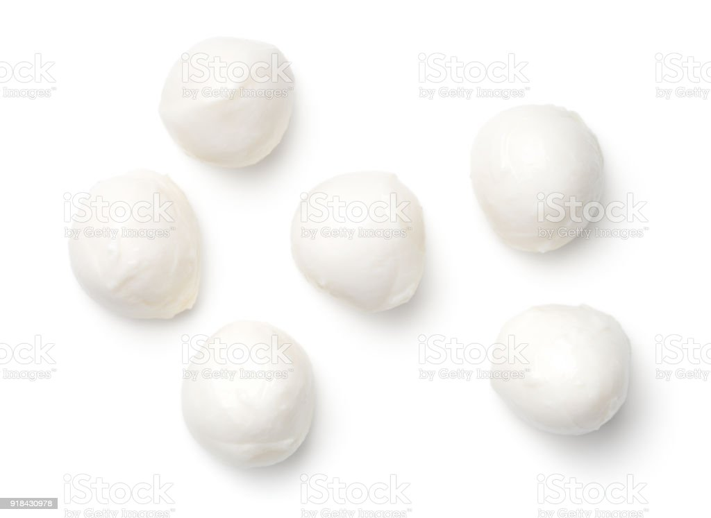 Mozzarella Isolated on White Background stock photo