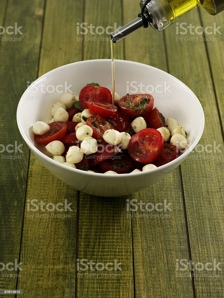 Mozzarella salad royalty-free stock photo