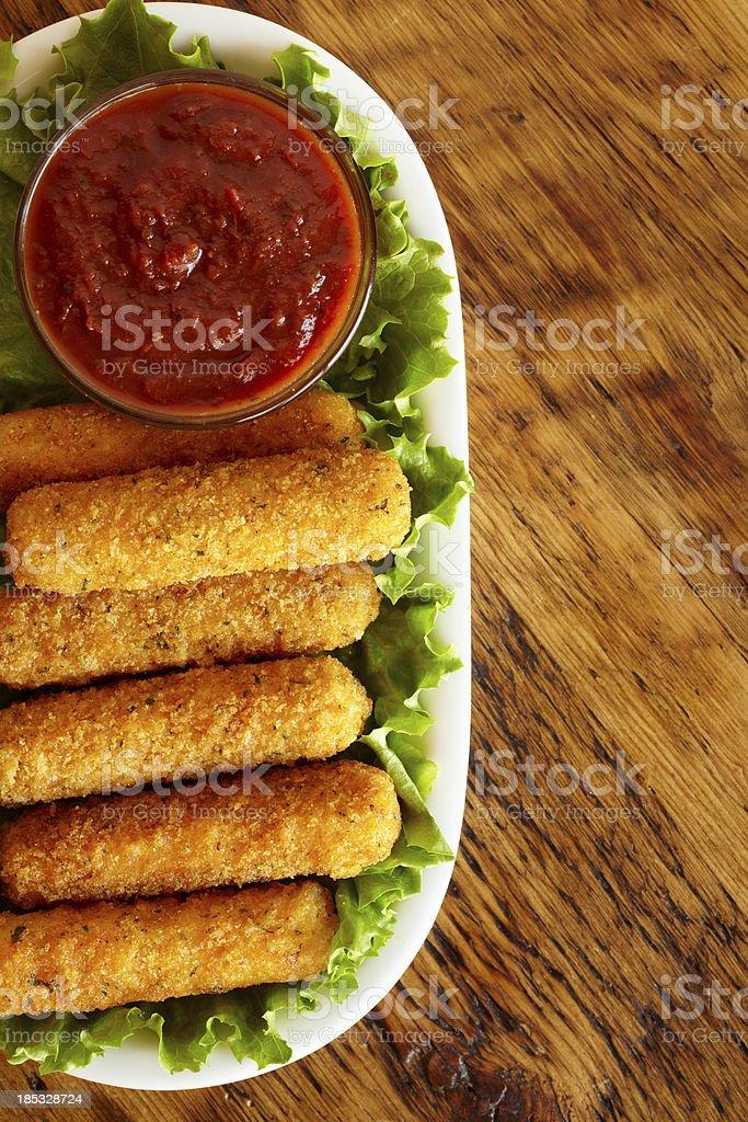 Mozzarella sticks royalty-free stock photo