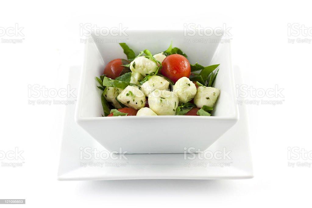 Mozzarella Tomato Basil Salad royalty-free stock photo