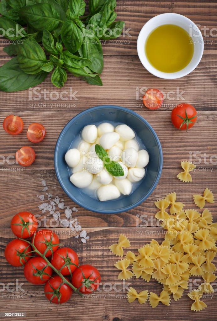 Mozzarella with cherry tomatos royalty-free stock photo