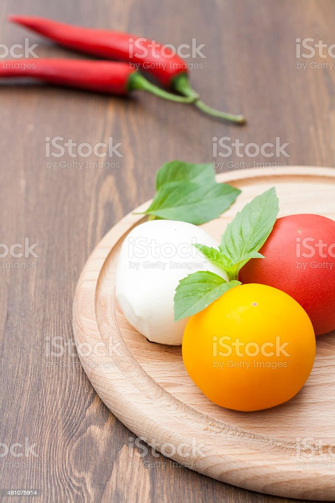 Mozzarella with herbs royalty-free stock photo