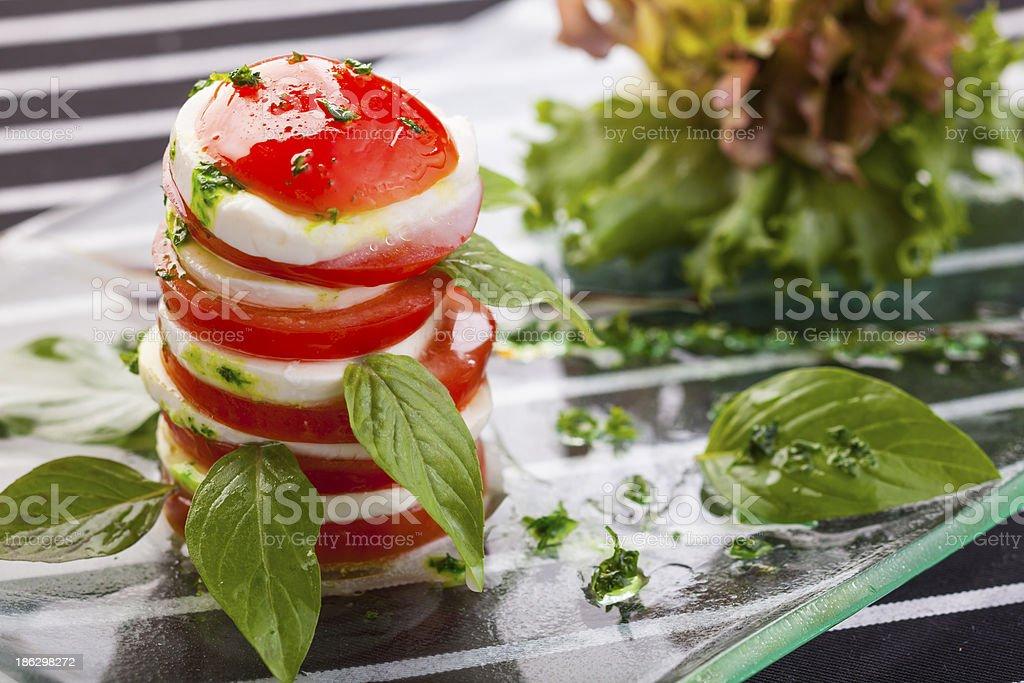mozzarella with tomato royalty-free stock photo