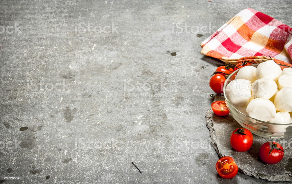 Mozzarella with tomatoes . Lizenzfreies stock-foto