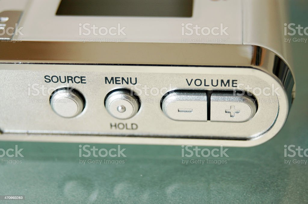 mp3 player 1 stock photo
