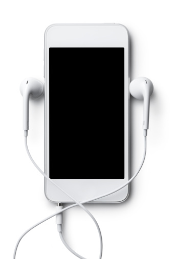 Mp3 player. Photo with clipping path.