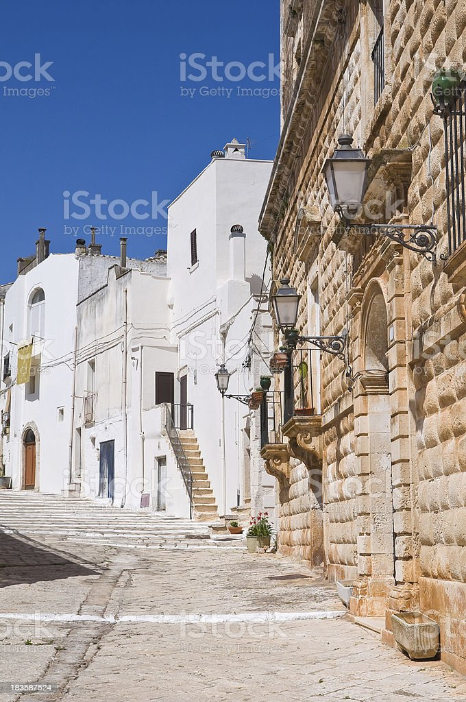 Alleyway. Ceglie Messapica. Puglia. Italy. royalty-free stock photo