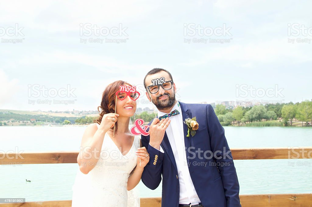 Mr. and Mrs. stock photo